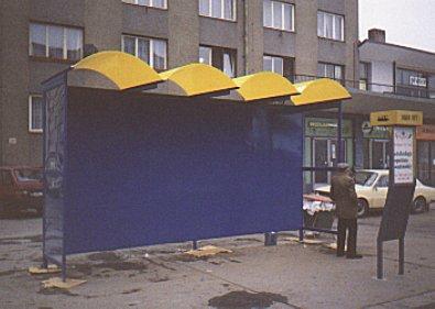 Autobusové zastávky, přístřešky